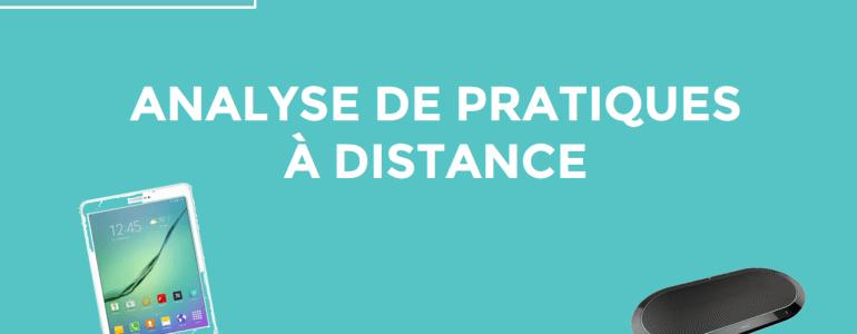 Analyse de pratiques à distance